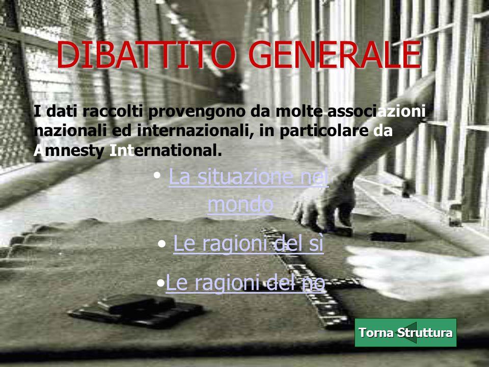 La situazione nel mondo: Più della metà dei paesi ha abolito la pena di morte di diritto o de facto.