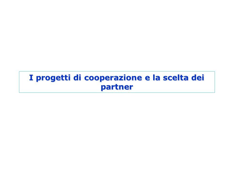 I progetti di cooperazione e la scelta dei partner