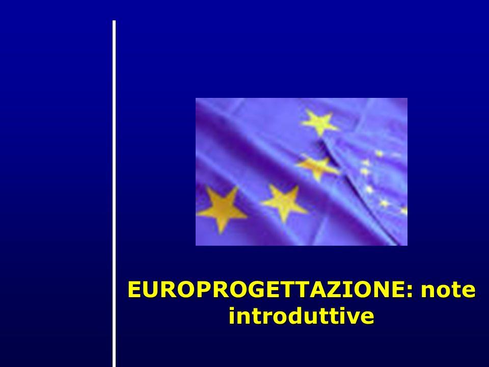 EUROPROGETTAZIONE: note introduttive