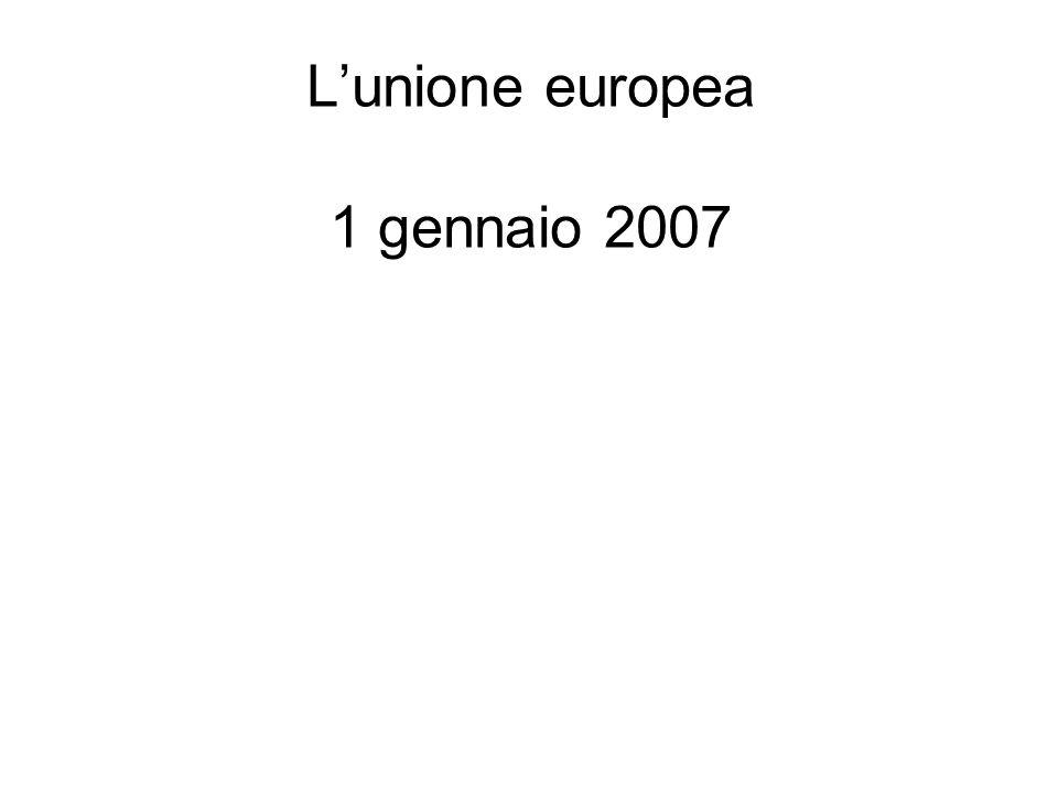 Lunione europea 1 gennaio 2007