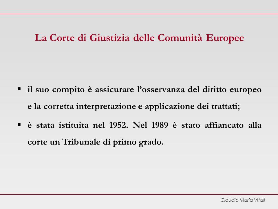 Claudio Maria Vitali La Corte dei Conti Europea è stata istituita nel 1977; esamina la legittimità e la regolarità delle entrate e delle spese dellUnione.