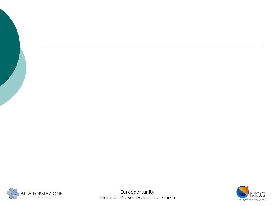 Europportunity Modulo: Presentazione del Corso