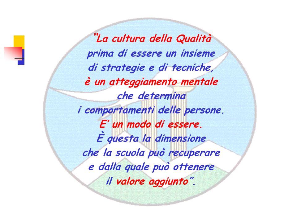 La cultura della Qualità prima di essere un insieme di strategie e di tecniche, è un atteggiamento mentale che determina i comportamenti delle persone