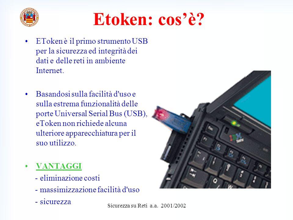 Sicurezza su Reti a.a.2001/2002 Etoken: cosè.