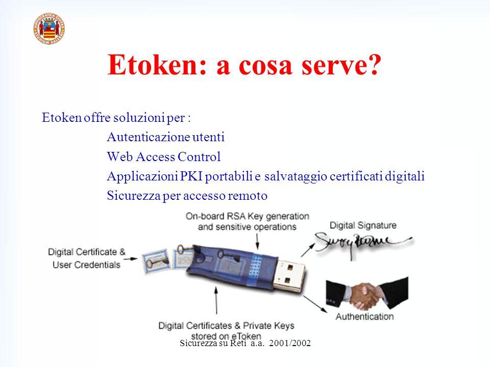 Sicurezza su Reti a.a. 2001/2002 MANIPOLAZIONE FILE BINARI Back to eToken Samples main menu