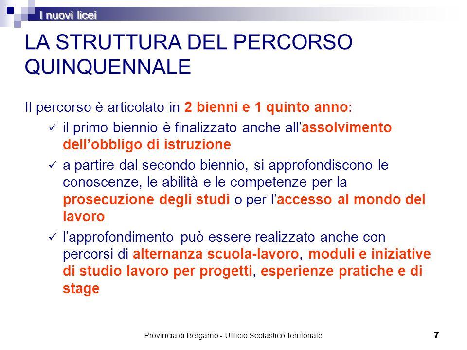 78 Tecnico - Indirizzo Trasporti e Logistica Provincia di Bergamo - Ufficio Scolastico Territoriale