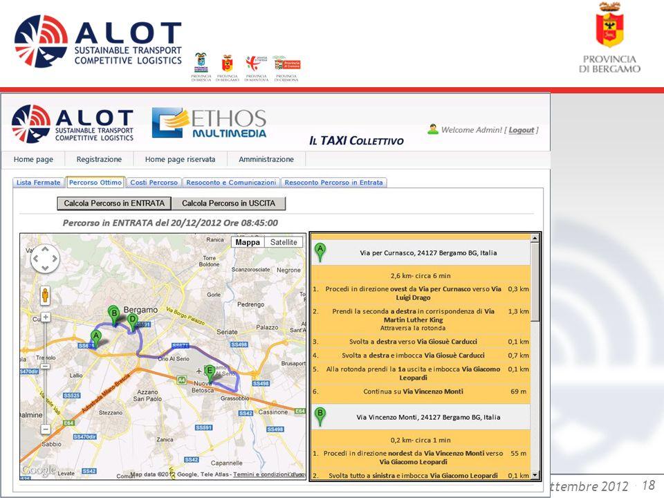 Bergamo,25 luglio 2012 - 18 Bergamo, 18 settembre 2012