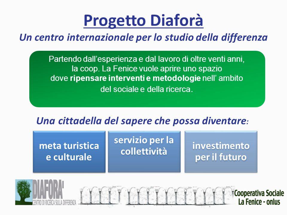Progetto Diaforà Un centro internazionale per lo studio della differenza meta turistica e culturale servizio per la collettività investimento per il f