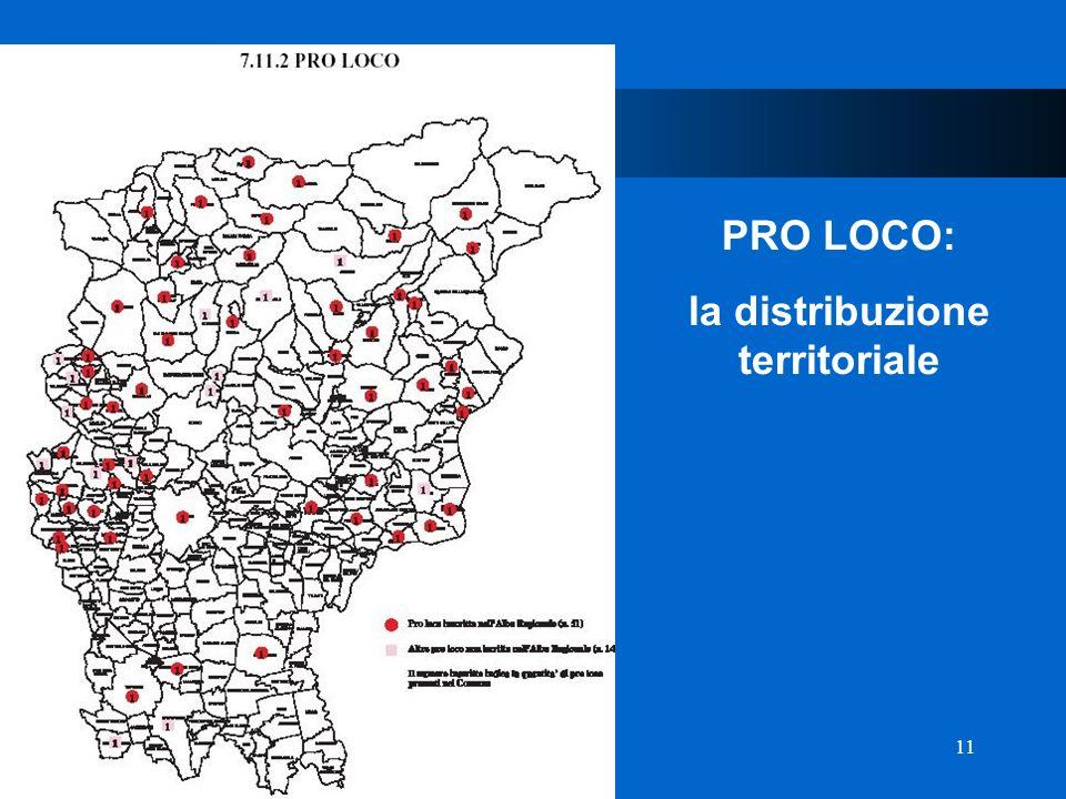 11 D Provincia di Bergamo PRO LOCO: la distribuzione territoriale