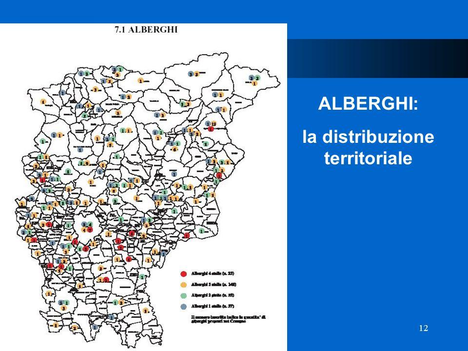 12 Provincia di Bergamo ALBERGHI: la distribuzione territoriale