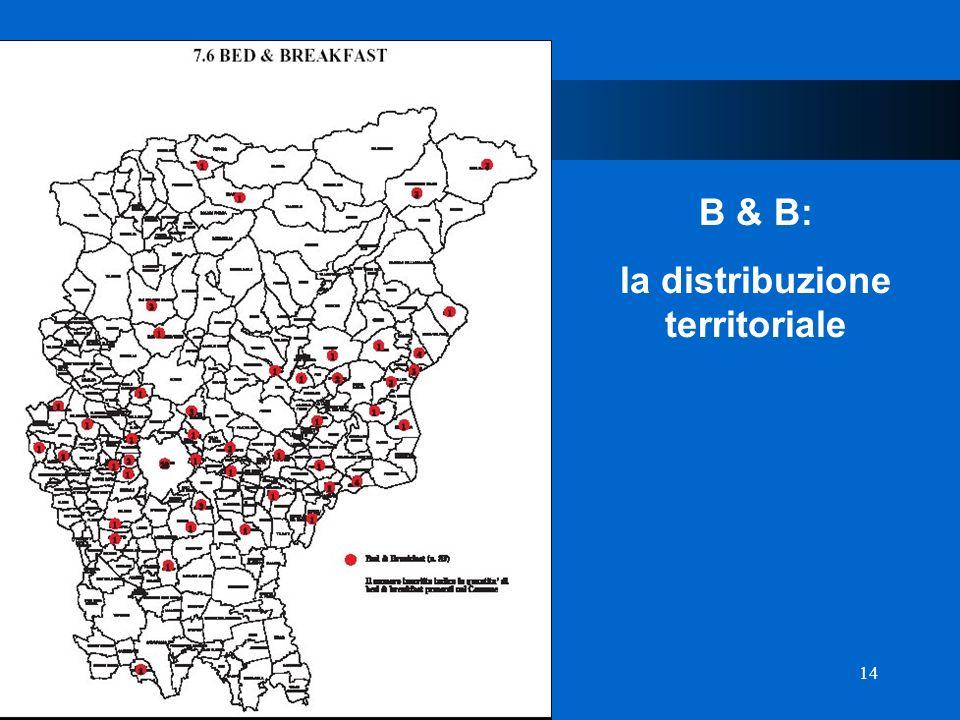 14 D Provincia di Bergamo B & B: la distribuzione territoriale