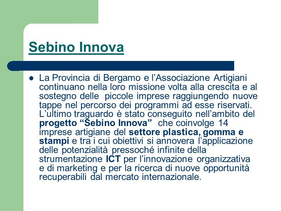 Sebino Innova La Provincia di Bergamo e lAssociazione Artigiani continuano nella loro missione volta alla crescita e al sostegno delle piccole imprese