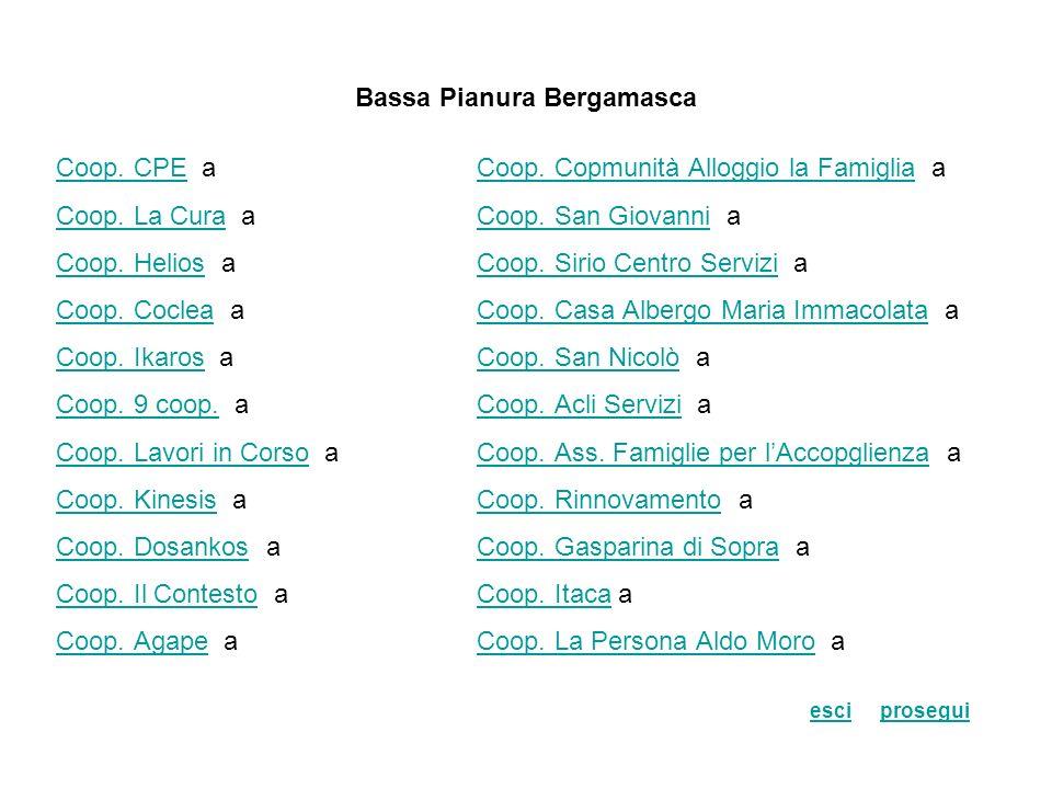 Bassa Pianura Bergamasca Coop.CPECoop. CPE aCoop.