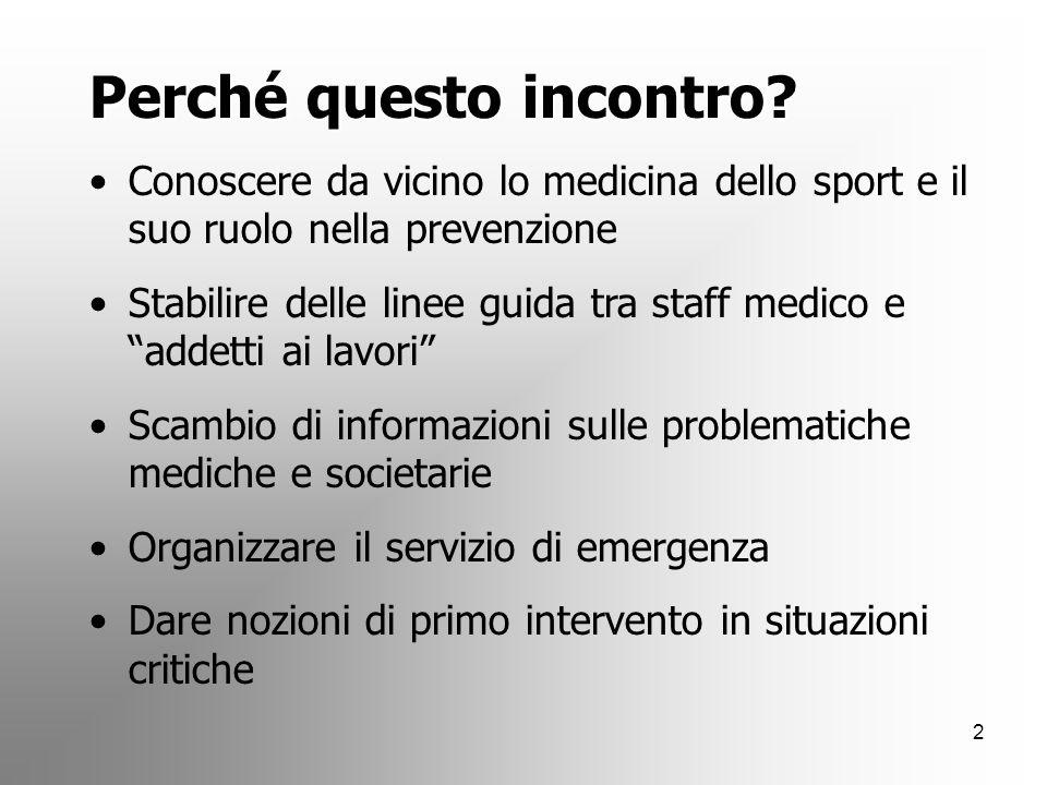 1 SPORT: OLTRE IL GESTO TECNICO Corso di formazione base per dirigenti sportivi, allenatori e appassionati Area medica - 29 ottobre 2007 ENZO VENTURA