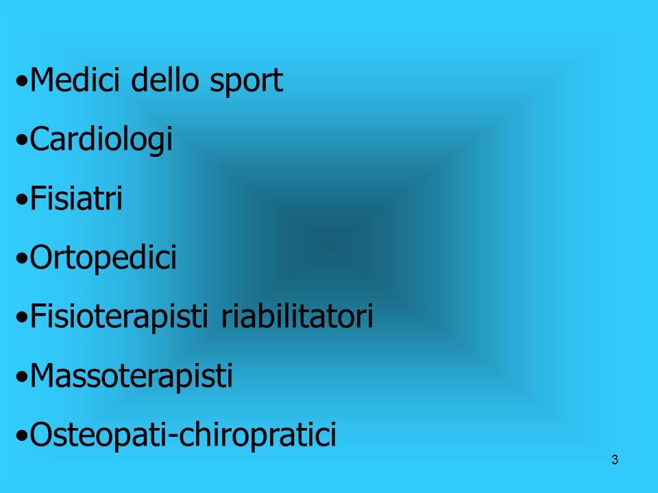 2 Perché questo incontro? Conoscere da vicino lo medicina dello sport e il suo ruolo nella prevenzione Stabilire delle linee guida tra staff medico e