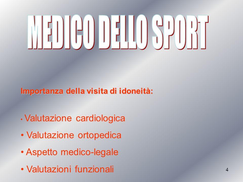 3 Medici dello sport Cardiologi Fisiatri Ortopedici Fisioterapisti riabilitatori Massoterapisti Osteopati-chiropratici
