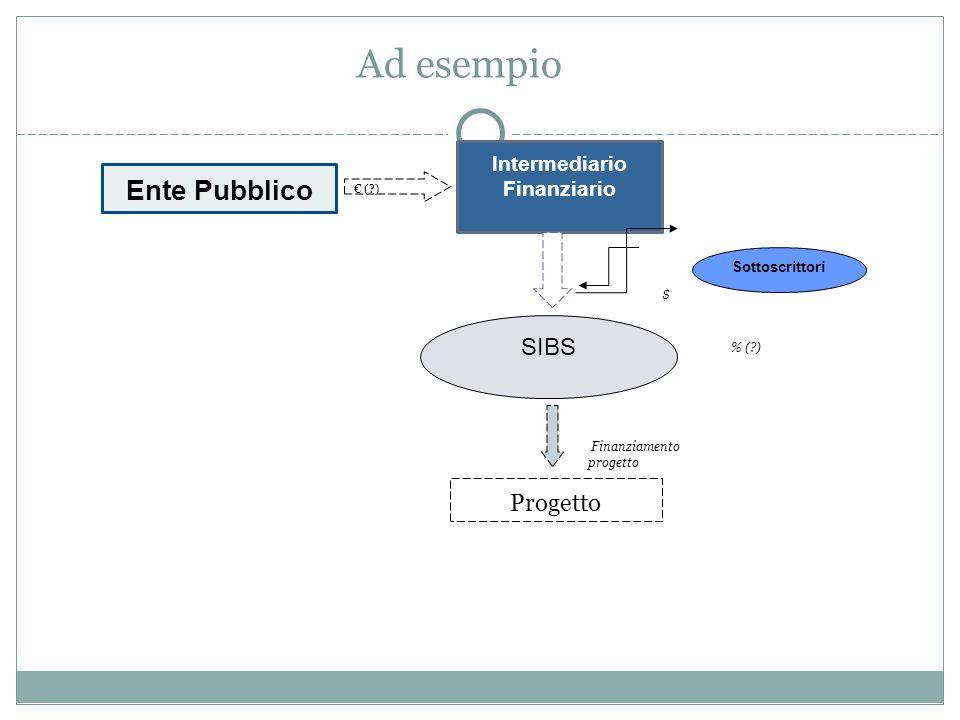 Ad esempio Ente Pubblico Intermediario Finanziario Progetto SIBS Sottoscrittori ( ) Finanziamento progetto $ % ( )
