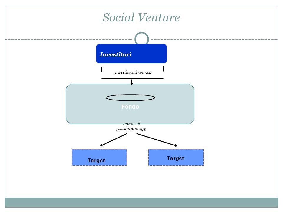 Social Venture Investitori Fondo Investimenti con cap Target Mix di strumenti finanziari Target