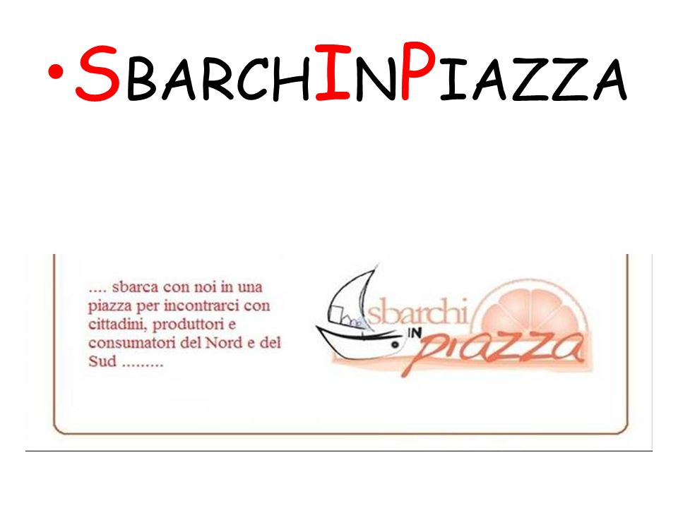 S BARCH I N P IAZZA