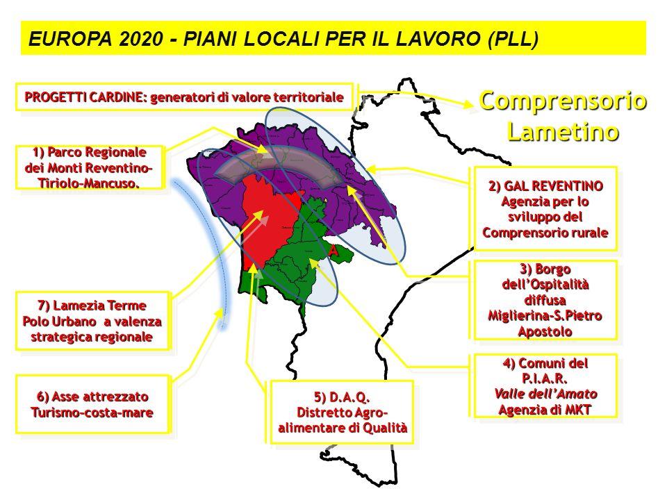 Le strutture territoriali Cicala Tiriolo Carlopoli Soveria M. Nocera Tirinese Falerna Gizzeria Decollatura Conflenti Motta Santa L. San Mango d'A. Ama