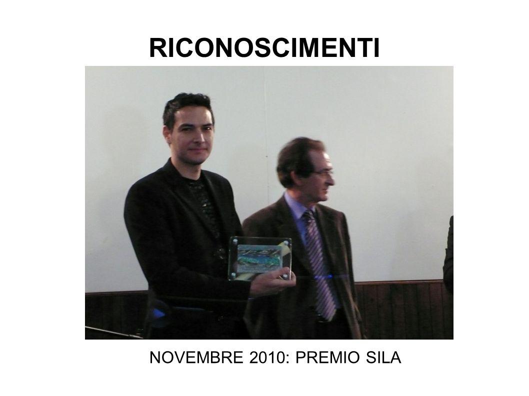 NOVEMBRE 2010: PREMIO SILA RICONOSCIMENTI