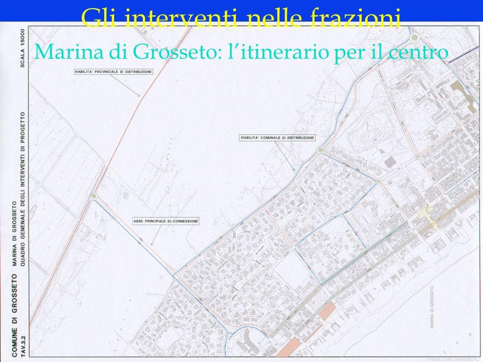 LOGO DELLA SOCIETÀ Marina di Grosseto: litinerario per il centro Gli interventi nelle frazioni