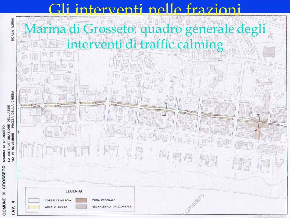 LOGO DELLA SOCIETÀ Marina di Grosseto: quadro generale degli interventi di traffic calming Gli interventi nelle frazioni