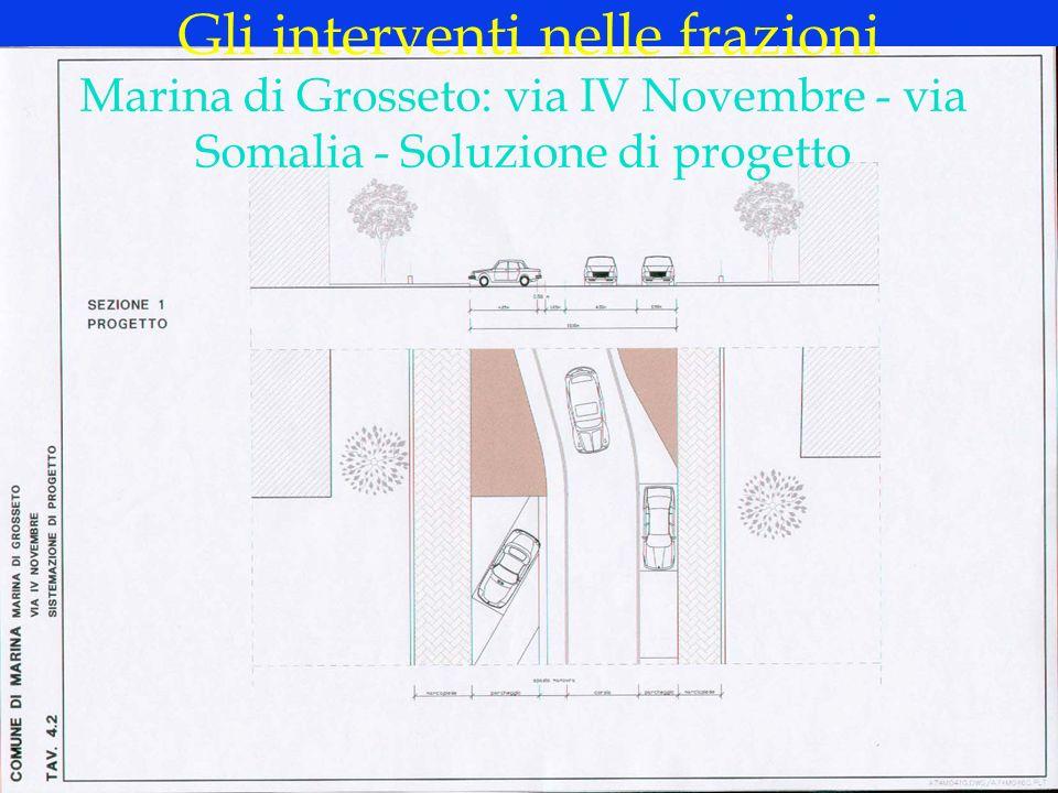 LOGO DELLA SOCIETÀ Gli interventi nelle frazioni Marina di Grosseto: via IV Novembre - via Somalia - Soluzione di progetto