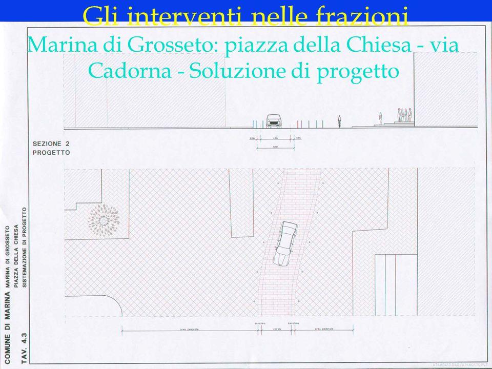 LOGO DELLA SOCIETÀ Gli interventi nelle frazioni Marina di Grosseto: piazza della Chiesa - via Cadorna - Soluzione di progetto