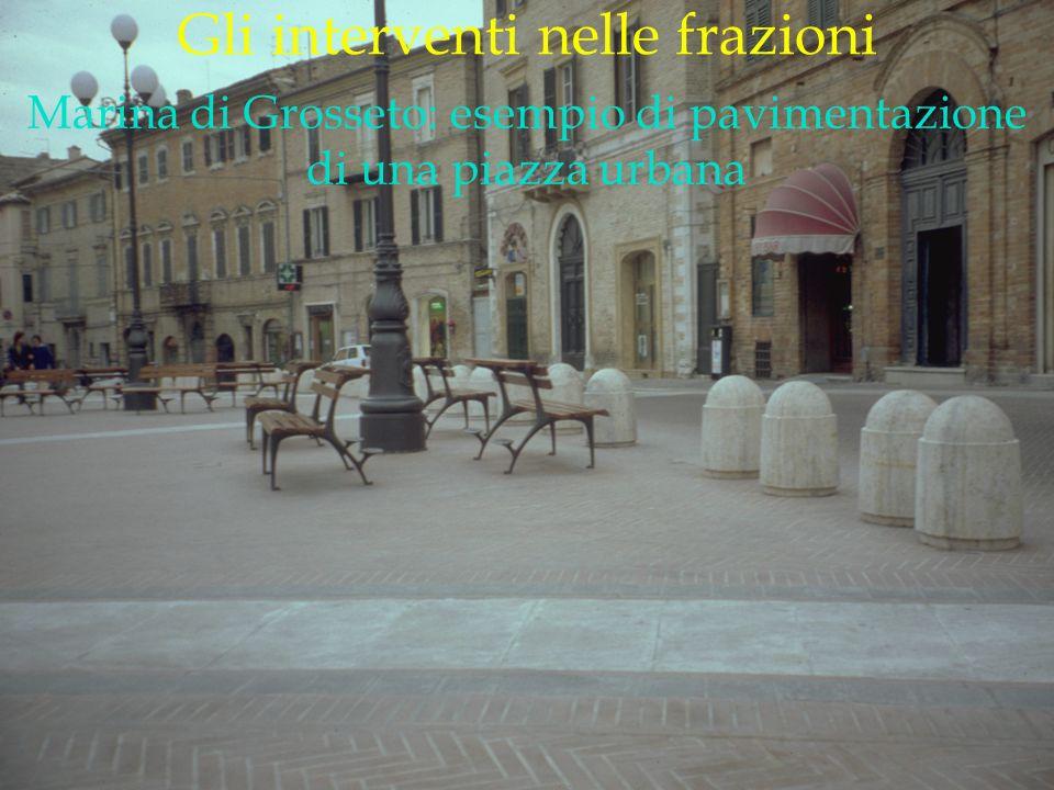 LOGO DELLA SOCIETÀ Gli interventi nelle frazioni Marina di Grosseto: esempio di pavimentazione di una piazza urbana
