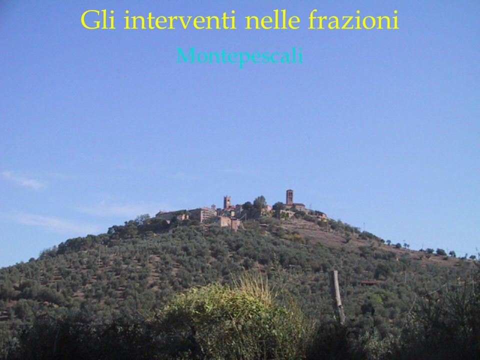 LOGO DELLA SOCIETÀ Gli interventi nelle frazioni Montepescali