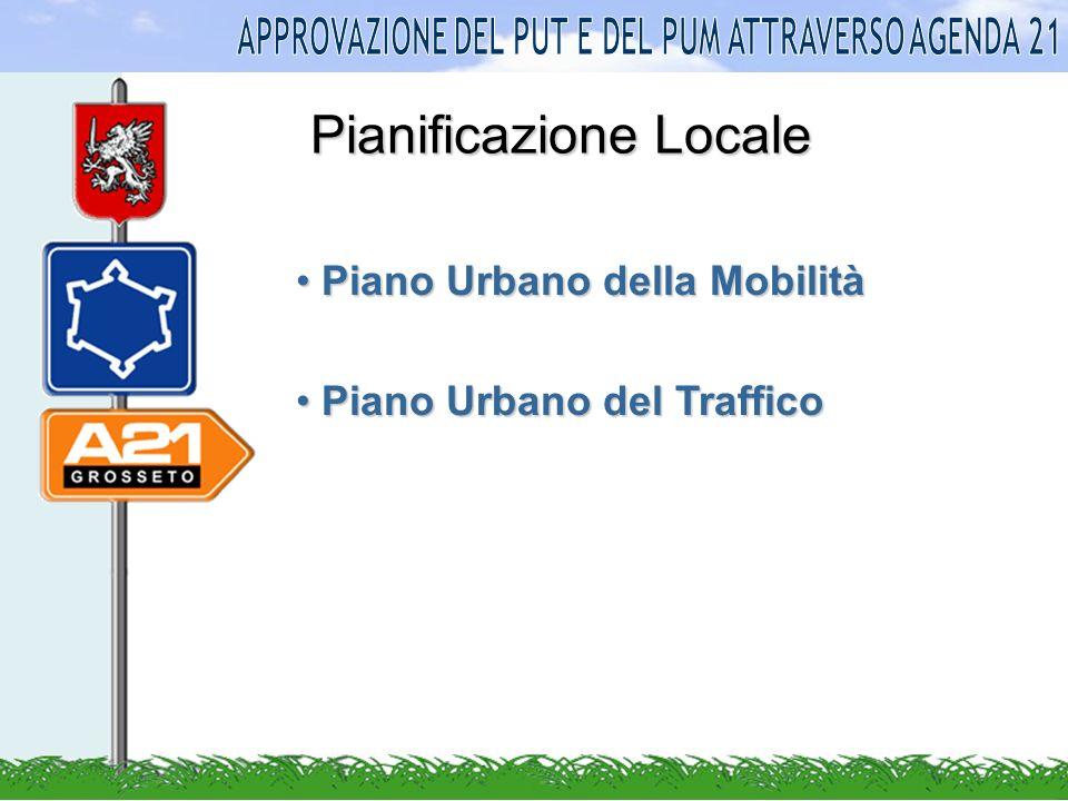 Pianificazione Locale Piano Urbano della Mobilità Piano Urbano della Mobilità Piano Urbano del Traffico Piano Urbano del Traffico