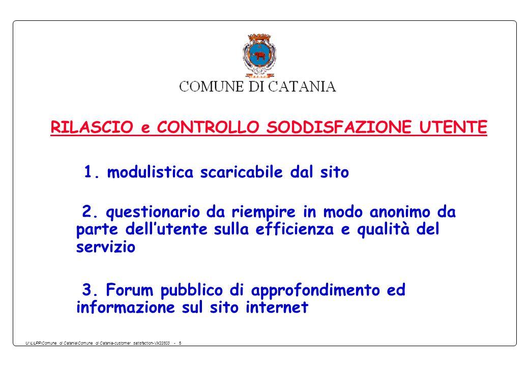 U:\L\LPP\Comune di Catania\Comune di Catania-customer satisfaction-VX22803 - 5 RILASCIO e CONTROLLO SODDISFAZIONE UTENTE 1. modulistica scaricabile da