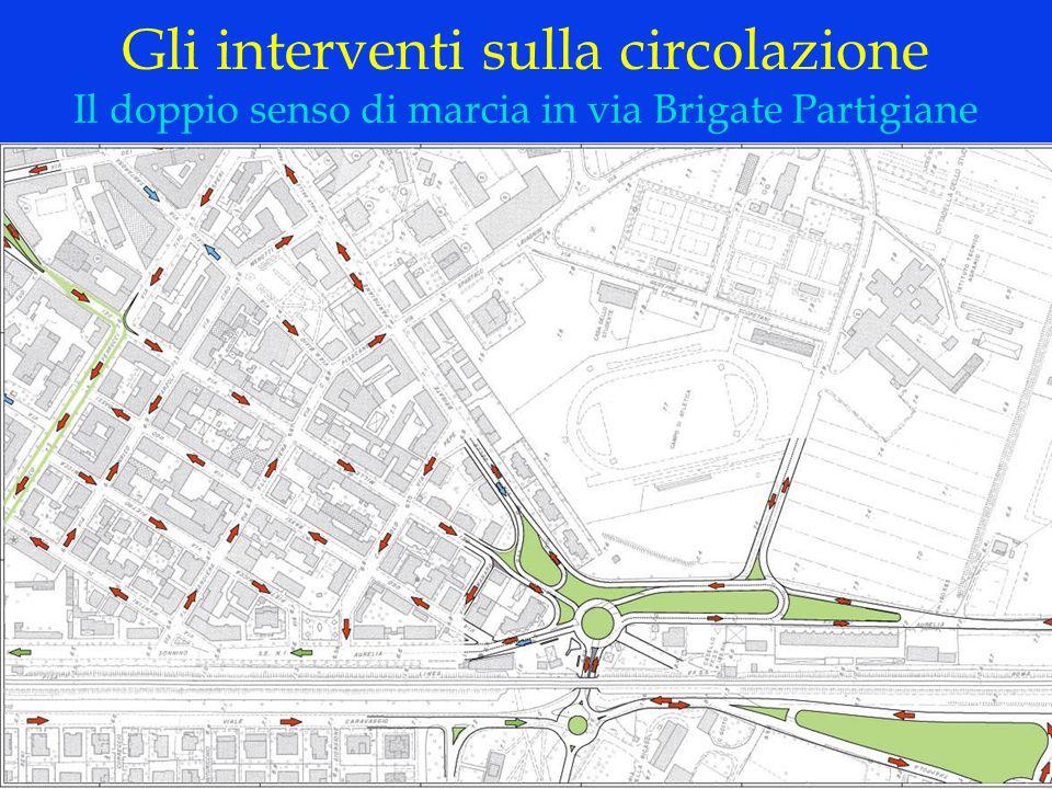 LOGO DELLA SOCIETÀ Gli interventi sulla circolazione Il doppio senso di marcia in via Brigate Partigiane
