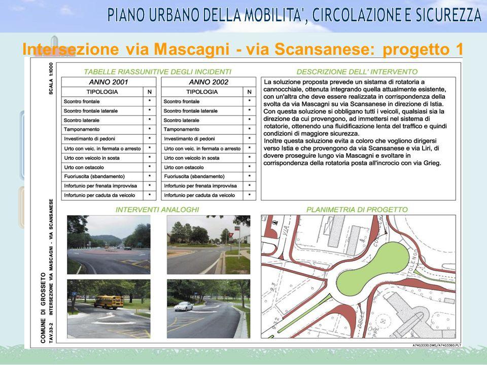 Intersezione via Mascagni - via Scansanese: progetto 2