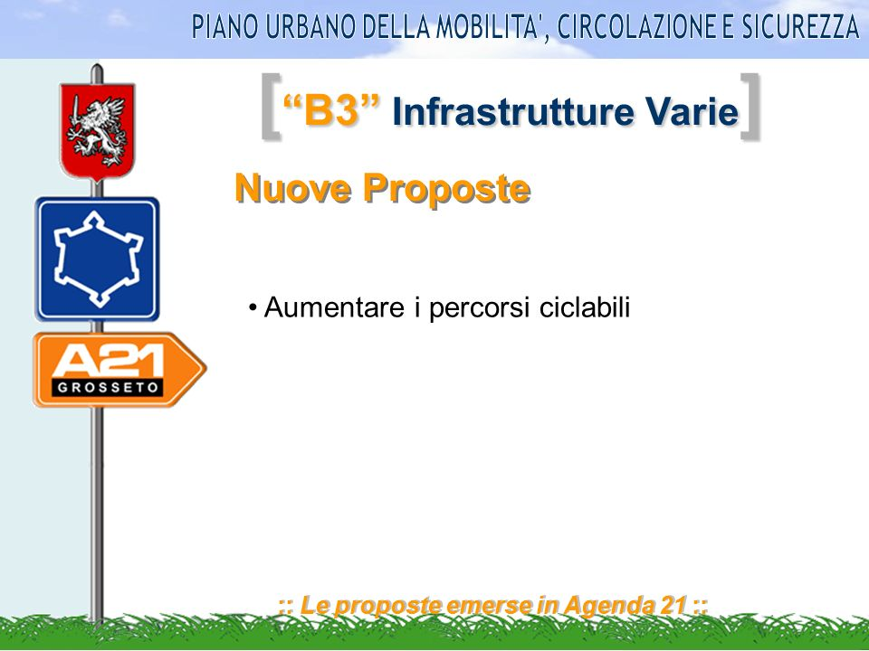 [ B3 Infrastrutture Varie ] :: Le proposte emerse in Agenda 21 :: Priorità Necessità di realizzare bretella tra la s.s.