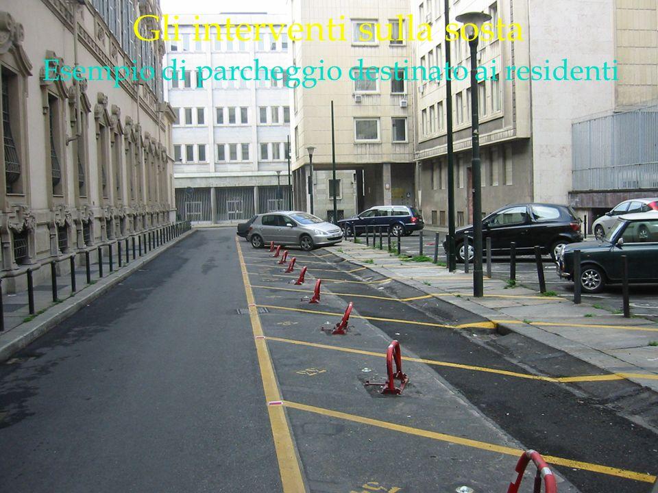 LOGO DELLA SOCIETÀ Gli interventi sulla sosta Esempio di parcheggio destinato ai residenti
