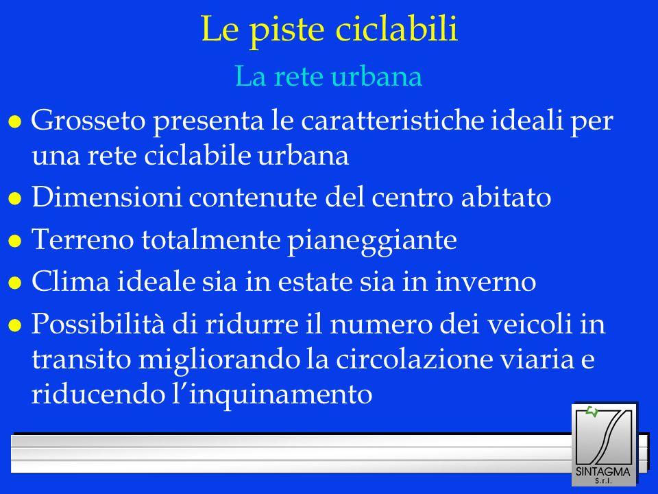 LOGO DELLA SOCIETÀ Le piste ciclabili l Grosseto presenta le caratteristiche ideali per una rete ciclabile urbana l Dimensioni contenute del centro ab