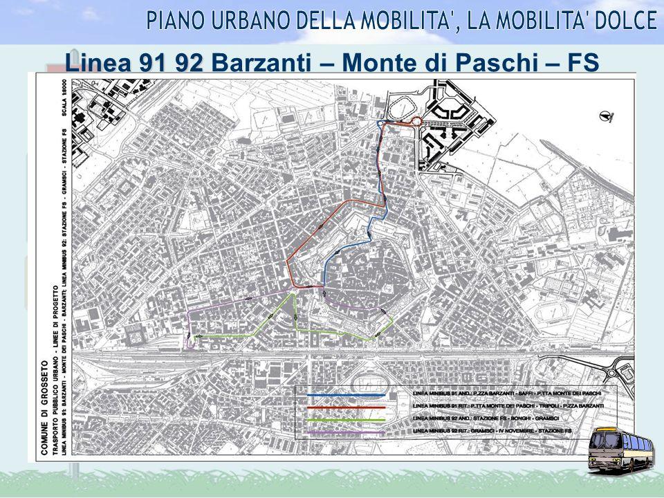 Linea 91 92 Linea 91 92 Barzanti – Monte di Paschi – FS