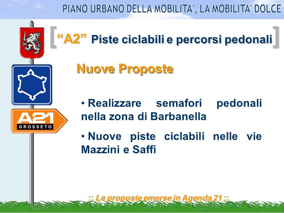 [ A2 Piste ciclabili e percorsi pedonali ] :: Le proposte emerse in Agenda 21 :: Nuove Proposte Realizzare semafori pedonali nella zona di Barbanella