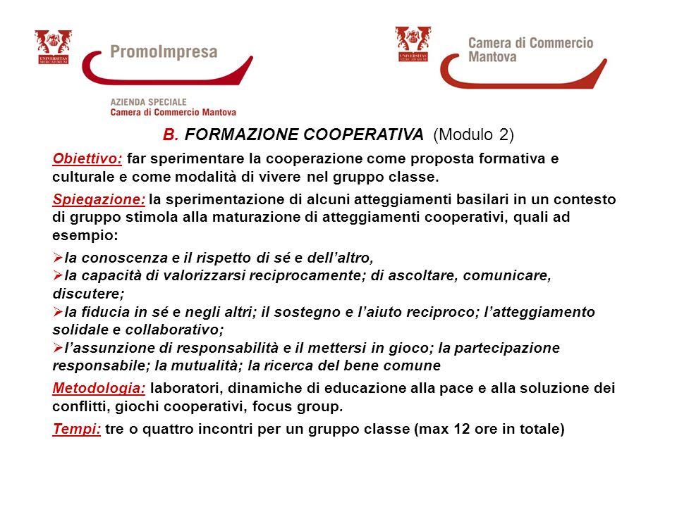 Percorsi di formazione per gli Istituti Superiori della provincia di Mantova RIFERIMENTI c/o PromoImpresa Largo Pradella, 1 – Mantova Tel.