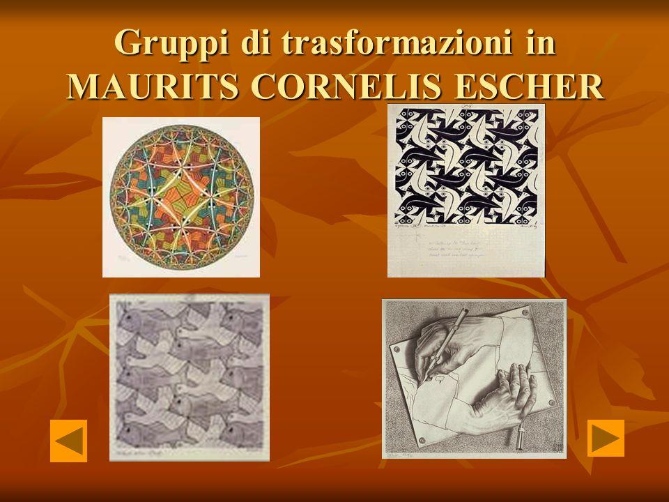 Gruppi di trasformazioni in MAURITS CORNELIS ESCHER