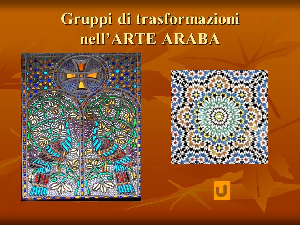 Gruppi di trasformazioni nellARTE ARABA