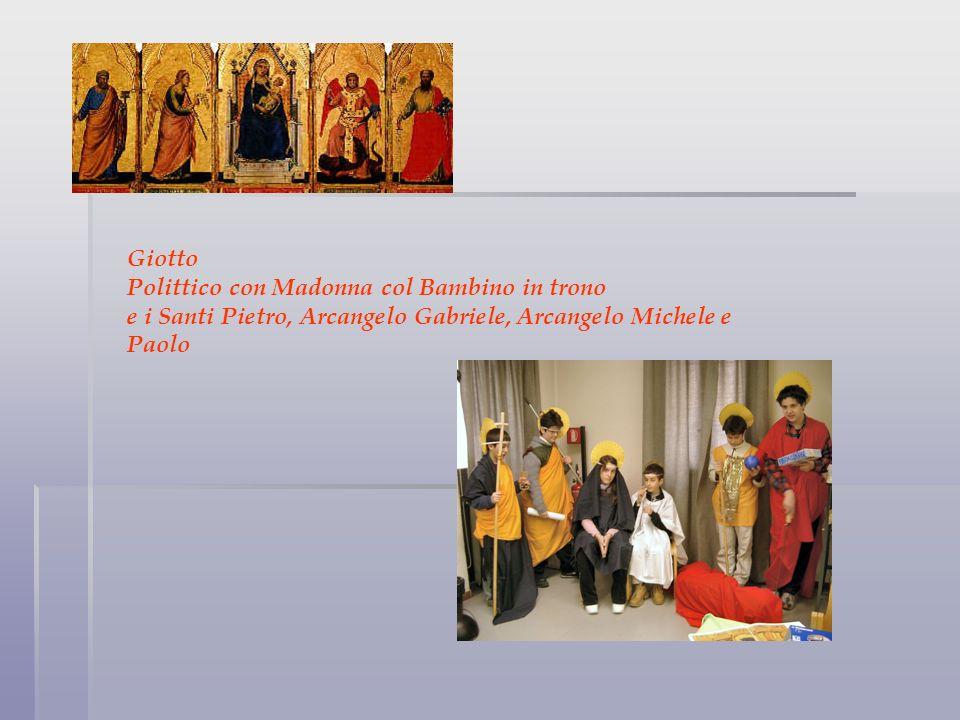 Giotto Polittico con Madonna col Bambino in trono e i Santi Pietro, Arcangelo Gabriele, Arcangelo Michele e Paolo