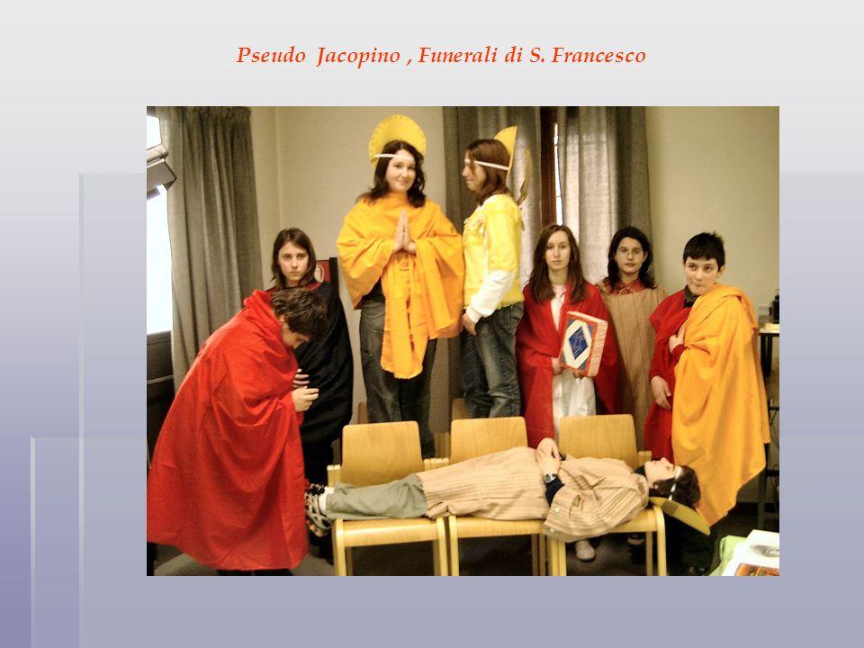 Pseudo Jacopino, Funerali di S. Francesco