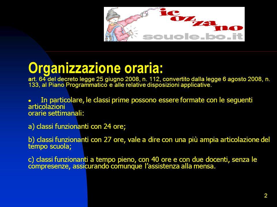 1 Scuola PRIMARIA: organizzazione e iscrizioni anno scolastico 20010/2011