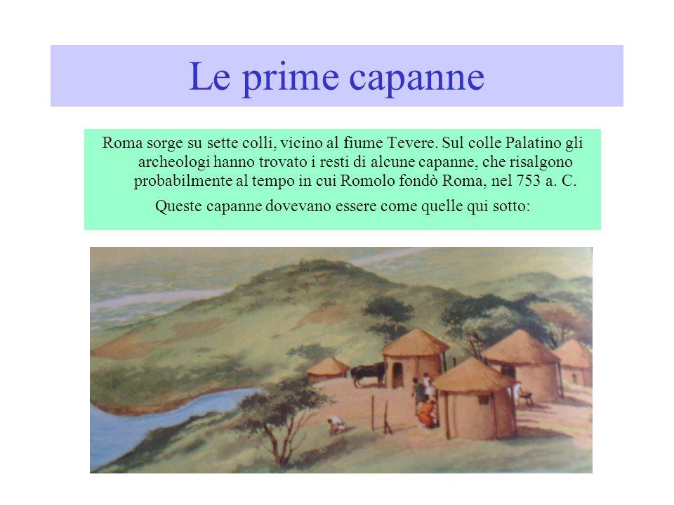 Roma sorge su sette colli, vicino al fiume Tevere.