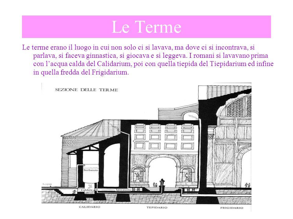 Pianta di una città romana La pianta delle città romane era molto regolare.