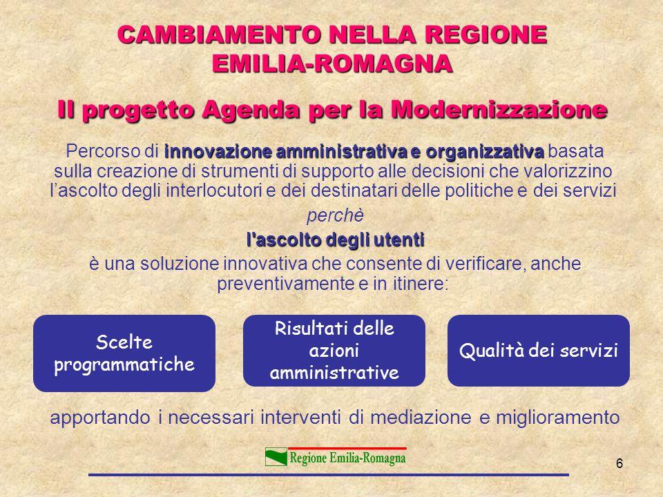 6 innovazione amministrativa e organizzativa Percorso di innovazione amministrativa e organizzativa basata sulla creazione di strumenti di supporto al