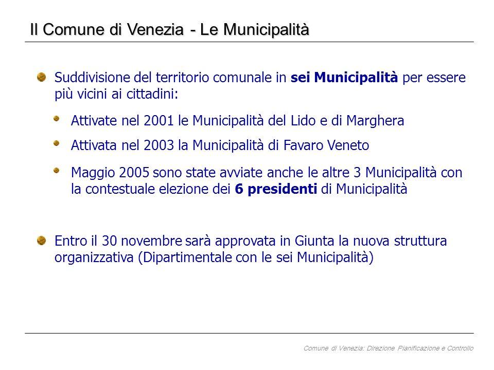 Il Comune di Venezia - Le Municipalità Maggio 2005 sono state avviate anche le altre 3 Municipalità con la contestuale elezione dei 6 presidenti di Mu
